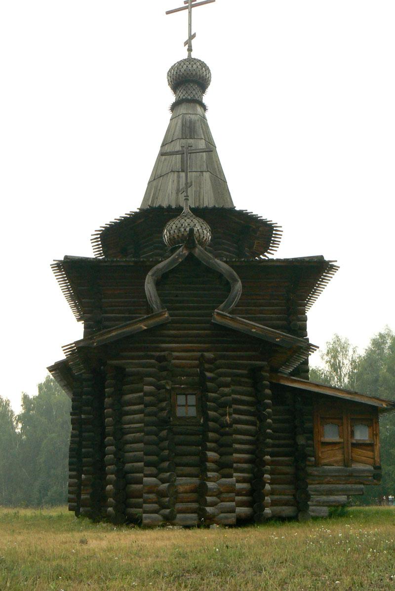 Историко-архитектурный музей под открытым небом. Церковь Спаса Нерукотворного образа. Зашиверск
