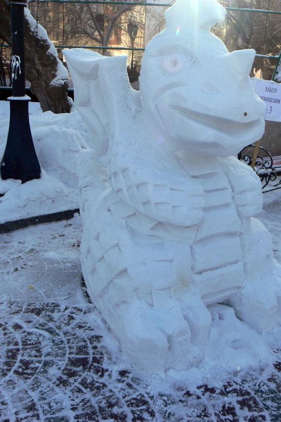 Фестиваль снежных скульптур в Новосибирске, 2012