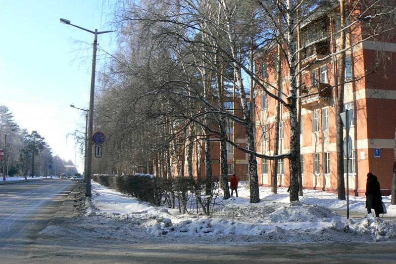 Морской проспект. Академгородок. Новосибирск. Зима 2012