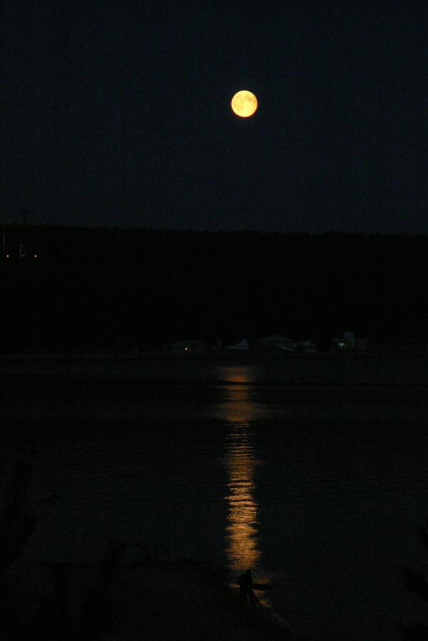 Лунная дорожка на Обском море