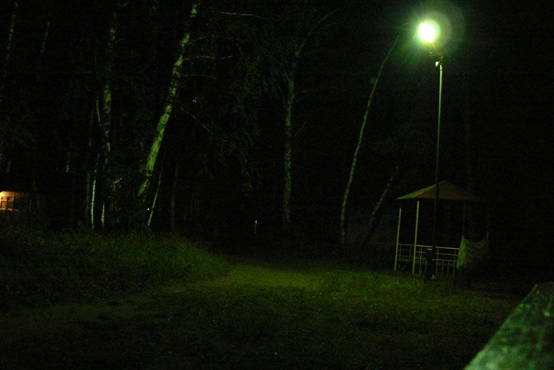 Ночная съемка. Японская беседка