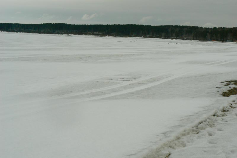 Обское море. 25 марта 2012. Дорога